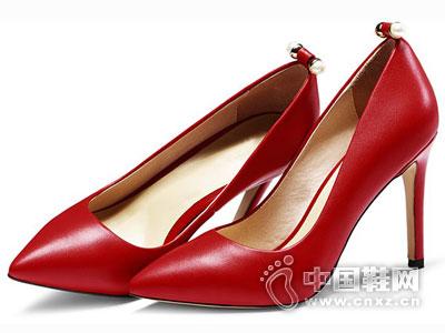 世尊皮鞋2016高跟时尚单鞋新款