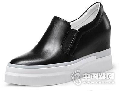 世尊皮鞋2016坡跟时尚单鞋