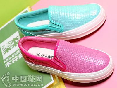 木林森帆布鞋2016厚底休闲板鞋