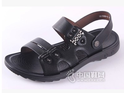 老鞋匠2016新款真皮商务休闲沙滩鞋