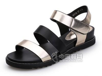 意利都2016新款韩版夏季厚底凉鞋松糕平底平跟女鞋潮
