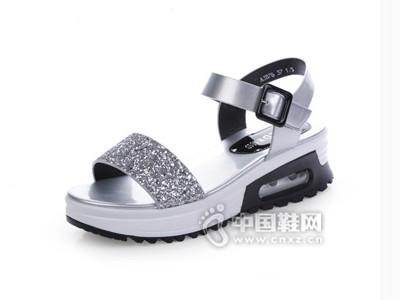 意利都2016新款韩版夏罗马女厚底凉鞋女学生松糕平跟女鞋潮