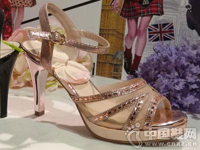 芭迪女鞋2016高跟凉鞋