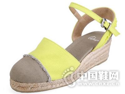 Castaner西班牙201616夏季黄麻渔夫鞋帆布草编平底单鞋
