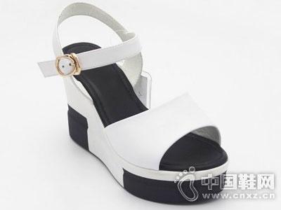 红砂手工真皮鞋2016厚底凉鞋
