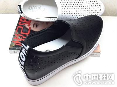 欧米高时尚女鞋新款坡跟镂空鞋