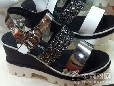 富利康女鞋2016新款厚底凉鞋