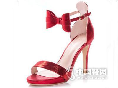 皇妹新款夏季细跟尖头高跟鞋女性感一字扣蝴蝶结ol单鞋凉鞋