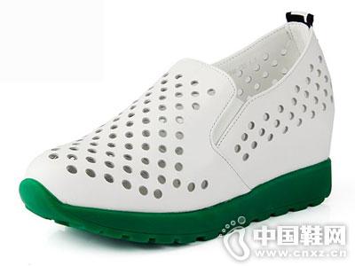 嘉俪多女鞋2016新款厚底镂空单鞋