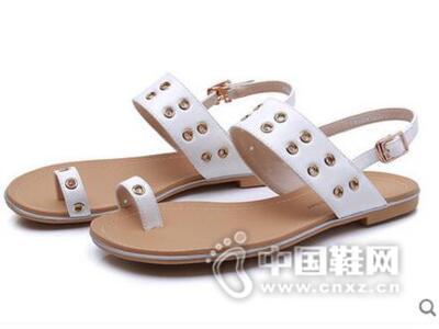 DUSTO/大东2016夏季新款韩版低跟平跟时尚套趾女鞋凉鞋