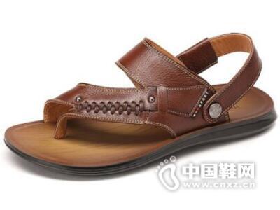 红蜻蜓2016夏季新款休闲防滑牛皮沙滩鞋舒适男鞋