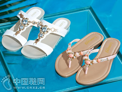 洛曼琪女鞋2016新款休闲拖鞋
