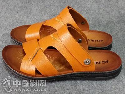 澳杰皮鞋2016新款凉鞋产品