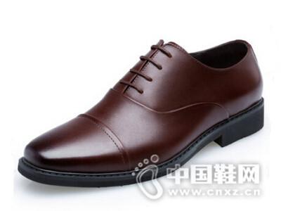 圣高2016新款透气真皮系带尖头男士皮鞋