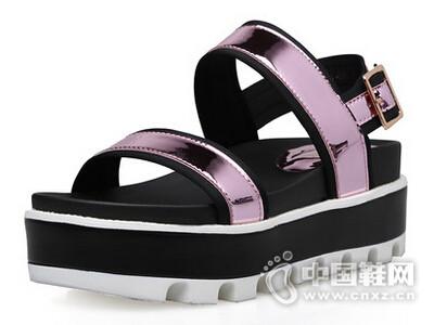 米薇卡2016新款韩版厚底松糕休闲百搭运动凉鞋