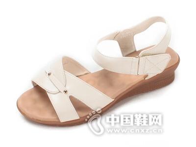 蓝棠2016坡跟休闲凉鞋