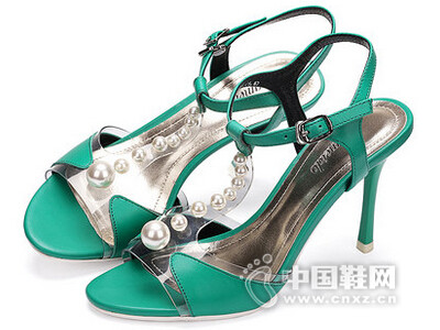 卡美多2016夏新款甜美细跟凉鞋纯色露趾女鞋
