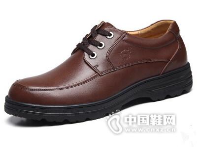奥古斯都商务休闲皮鞋