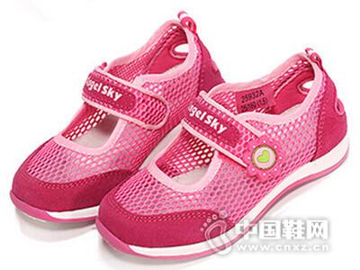 空中天使2016女童单网跑步鞋