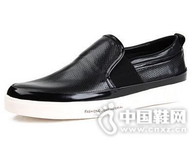 村哥牛皮2016镂空皮鞋透气真皮休闲潮鞋