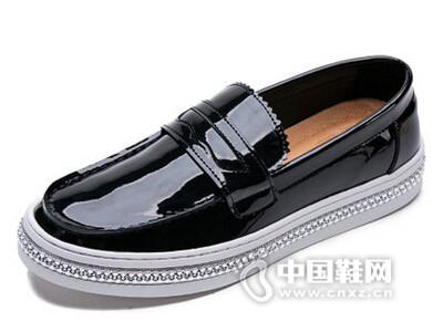 米先生2016英伦真皮时尚套脚休闲板鞋男潮