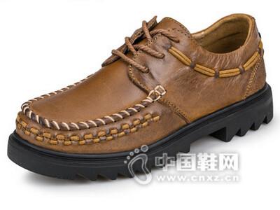 吉普盾2016牛皮休闲皮鞋透气日常休闲鞋