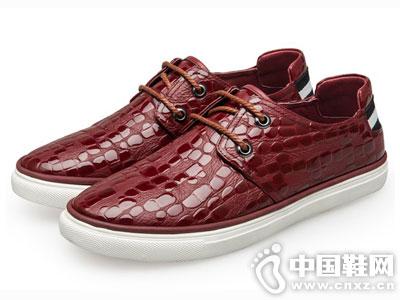 中国犀牛2016秋季亮皮休闲皮鞋时尚