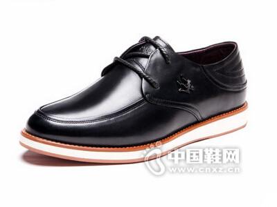 皮王狮丹2016韩版系带真皮透气商务休闲皮鞋