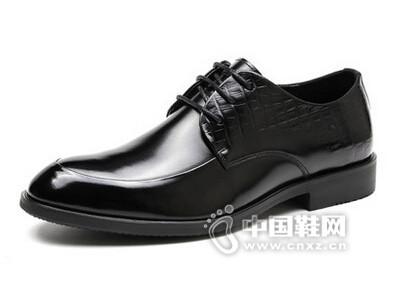皮王狮丹2016系带商务正装牛皮透气皮鞋