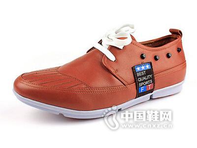 麦高2016系带舒适真皮皮鞋