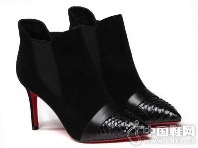 白领丽人女鞋2016秋季时尚低靴新款