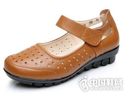 登云皮鞋2016秋季新款妈妈鞋