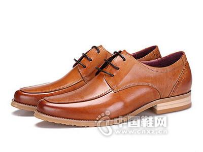 AAA2016尖头系带真皮单鞋商务正装