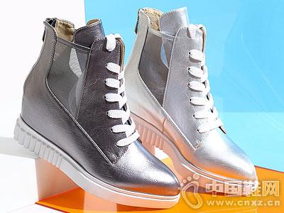 臻格女鞋2016秋季新款内增高短靴