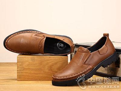 骆驼牌休闲鞋2016新款男鞋耐磨手工缝线鞋
