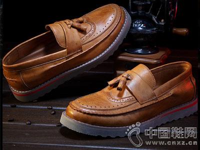 西瑞男鞋2016秋季新款英伦休闲皮鞋