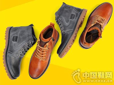 西瑞男鞋2016秋季新款男高帮英伦休闲短靴