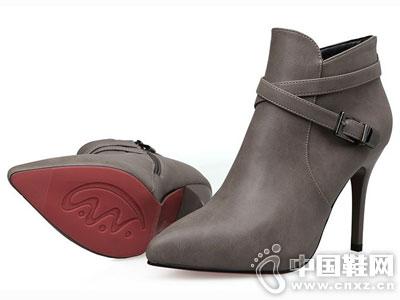 米薇卡时尚女鞋2016秋冬新款短靴
