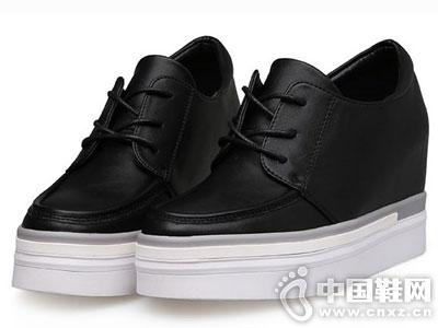 米薇卡时尚女鞋2016秋冬新款厚底单鞋