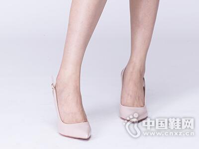 接吻猫2017夏优雅超高跟牛皮尖头性感后空女凉鞋