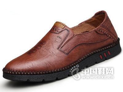 美国犀牛2017透气韩版皮鞋
