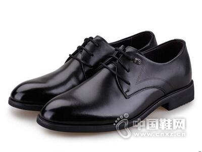 保罗盖帝2017商务系带百搭时尚皮鞋