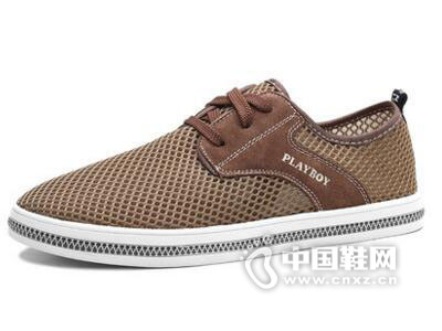 花花公子2017男士潮流网鞋休闲鞋