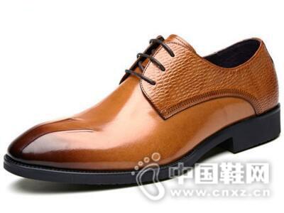 VOLO/犀牛2017牛皮尖头商务正装皮鞋