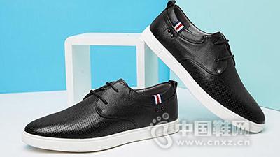 VOLO/犀牛2017透气系带英伦休闲皮鞋