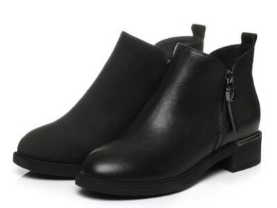 他她2017冬通勤及踝靴方跟女短靴