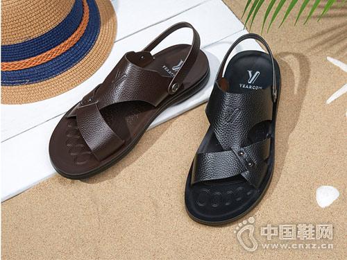 2018意尔康皮鞋男凉鞋新款产品