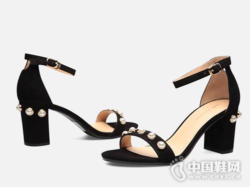 2018FED时尚女鞋高跟凉鞋新款产品
