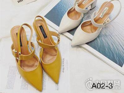 世尊2018女鞋后空单鞋新款产品