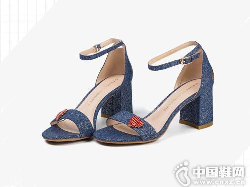 迪芙斯女鞋2018新款中跟凉鞋